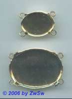 Kettenmittelstück 23mm x 16mm gold 1 Stück