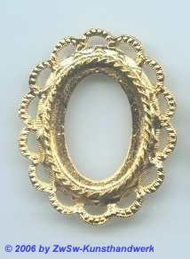 Metallrahmen gold oval