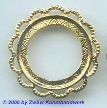 Metallrahmen gold rund