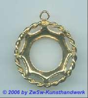 Metallrahmen gold rund m. Kranz