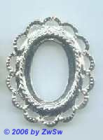 Metallrahmen silber oval
