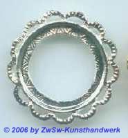 Metallrahmen silber rund