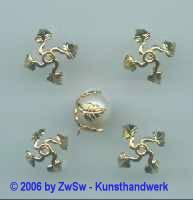 Perlenfassung gold 1 Stück