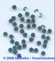 Fassung für Strasssteine (4mm), 50 Stück schwarz