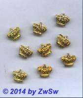 Zierniete kleine Krone gold 14mm, 1 Stück