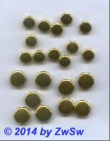 Zierniete Linse flach gold 9mm, 1 Stück