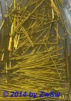 Kettelstifte, in gold 25 Stück, 18 mm