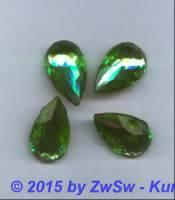 Strasstropfen hellgrün/peridot, 25mm x 15mm