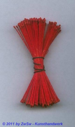 Blütenstempel in rot, Ø 1mm