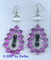1 Paar Ohrringe lila Herzdrops