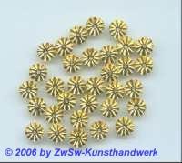 geprägte Pailletten gold,  8mm, 20 Stück