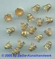 Endkappen 10 Stück gold