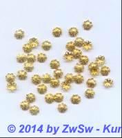 Perlenkappeln gold/filigran 10 Stück