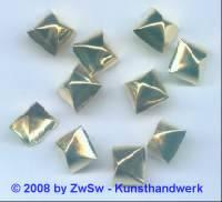 Zierniete, 13mm x 13mm gold, 1 Stück