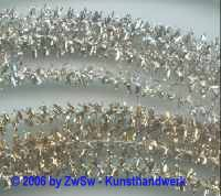 Metalltinsel gold 1 Meter