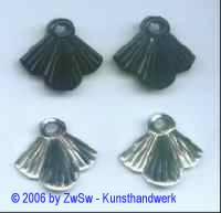 Anhänger schwarz, 24mm x 28mm, 2 Stück