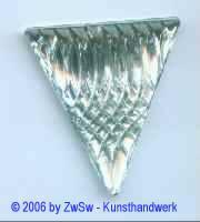 Dreieck kristall 45mm x 40mm, 2 Stück