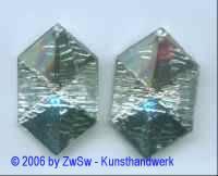 Dekoelement kristall 40mm x 25mm, 2 Stück