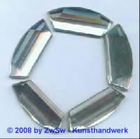 Strassstein, 40mm x 18mm, 1 Stück (kristall)