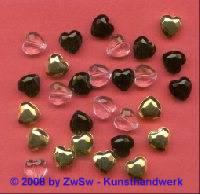 Herzperle, 10mm, 1 Stück (kristall)