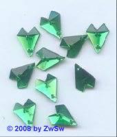 Strassstein, 1 Stück, 16mm x 13mm, (grün)