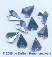 Strassstein, 1 Stück, 16mm x 13mm, (blau)