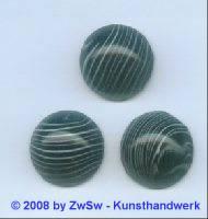 Muggelstein, 1 Stück, Ø 18mm, (schwarz/weiß)