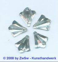 Strassstein, 1 Stück, 20mm x 18mm, (kristall)
