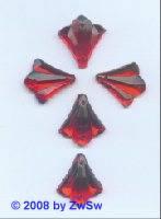 Strassstein, 1 Stück, 20mm x 18mm, (rot)