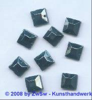 Strassstein, 1 Stück, 10mm x 10mm, (hematite)