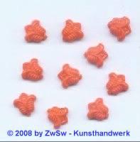 Strassstein, 1 Stück, 9mm x 9mm, (orange)