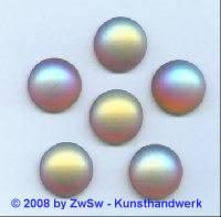 Strassstein, Ø 15mm, (dunkeltopas/AB), 1 Stück