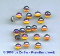 Strassstein Splint silber, Ø 7mm, (dunkeltopas/AB), 1 Stück