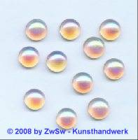 Strassstein, Ø 6,5mm, (zartrosa/AB), 1 Stück