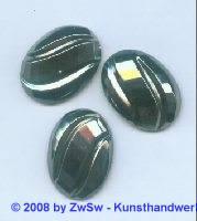 Strassstein, 25mm x 18mm, (schwarz/AB), 1 Stück