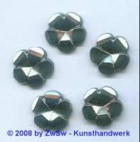 Strassstein, Ø 20mm, (schwarz/AB), 1 Stück