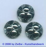 Strassstein, Ø 25mm, (schwarz/AB), 1 Stück