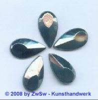 Strassstein, 20mm x 11mm, (schwarz/AB), 1 Stück