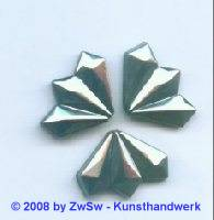 Strassstein, 18mm x 13mm, (schwarz/AB), 1 Stück