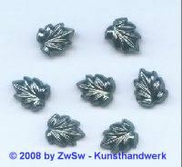 Strassstein, 12mm x 10mm, (schwarz/AB), 1 Stück
