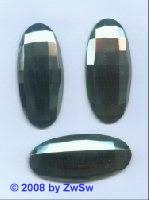 Strassstein, 45mm x 20mm, (schwarz/AB), 1 Stück