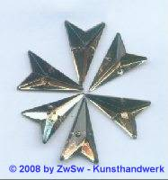 Strassstein, 12mm x 20mm, (rauchtopas), 1 Stück