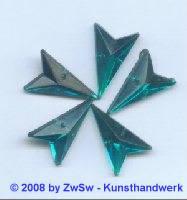 Strassstein, 12mm x 20mm, (petrol), 1 Stück