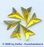 Strassstein, 12mm x 20mm, (zitronengelb), 1 Stück
