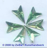 Strassstein, 12mm x 20mm, (hellgrün), 1 Stück