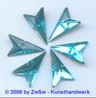Strassstein, 12mm x 20mm, (aquamarin), 1 Stück