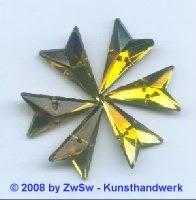 Strassstein, 12mm x 20mm, (olivin), 1 Stück