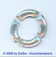 Strassstein, 20mm x 9mm, (kristall/AB), 1 Stück