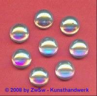 Strassstein, Ø 12mm, (kristall/AB), 1 Stück