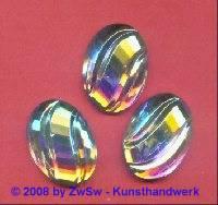 Strassstein, 25mm x 18mm, (kristall/AB), 1 Stück